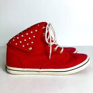 Vintage North Star Bata Canadian Red High Sneakers